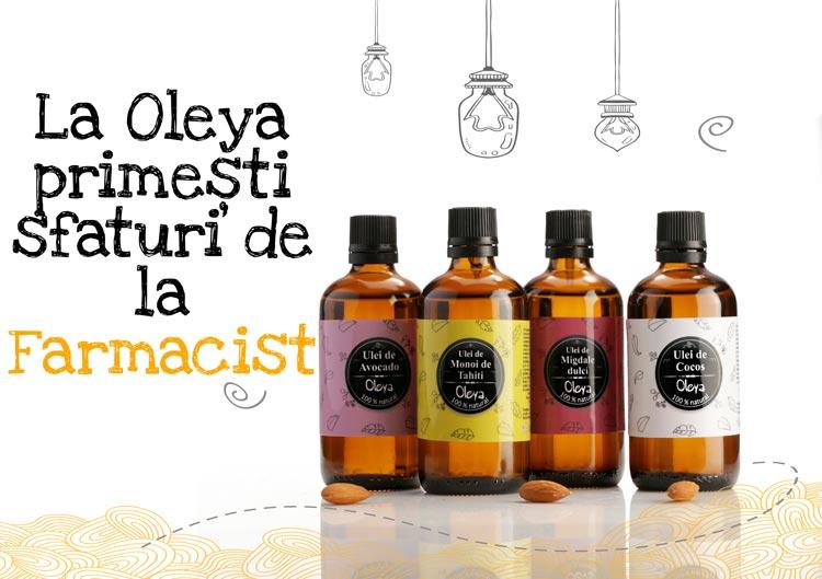 uleiuri-vegetale-ieftine-pret Farmacia - meseria mea, Oleya - visul meu